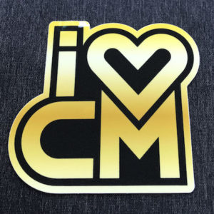 Stickers, Decals, Costa Mesa, Plaza, South Coast Plaza, Gold, Black