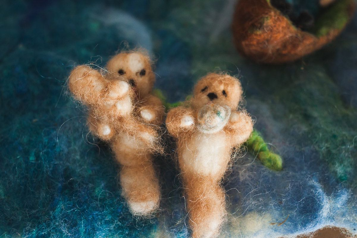 Felted Otters In A Felted Sea At Castle Of Costa Mesa