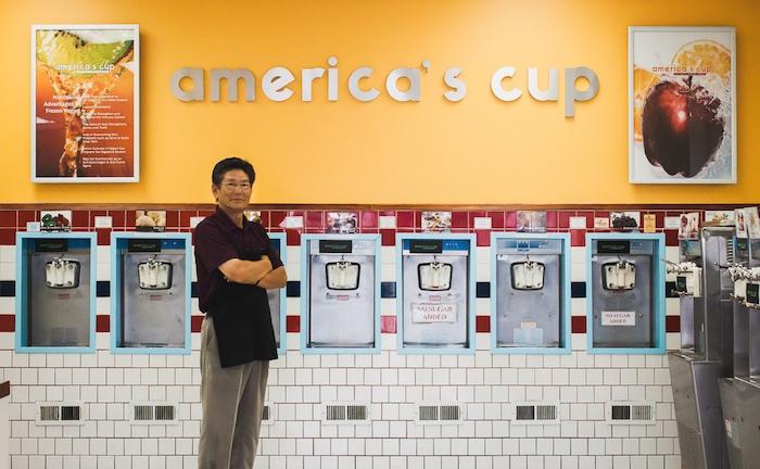 I Heart Costa Mesa, Costa Mesa, America's Cup, Steve Song, Frozen Yogurt, America's Cup Yogurt, Chocolate, Vanilla, Original Tart, Self Serve, Treats, Sweets, Costa Mesa Restaurants