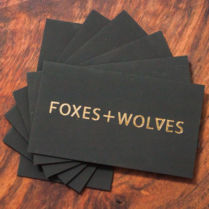 Foxes And Wolves Photography, Business Cards
