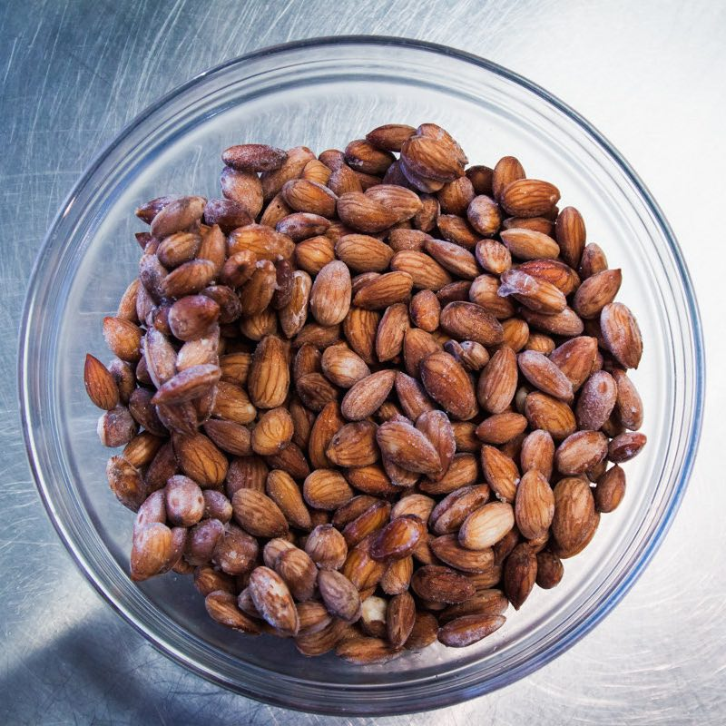 Origin story: each bottle of Rawmond Milk starts as raw, sprouted almonds source from Northern California