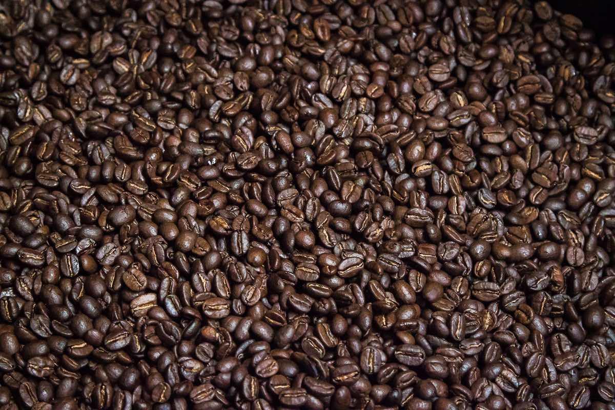 Organic coffee beans at Wilson Coffee in Westside Costa Mesa, California.