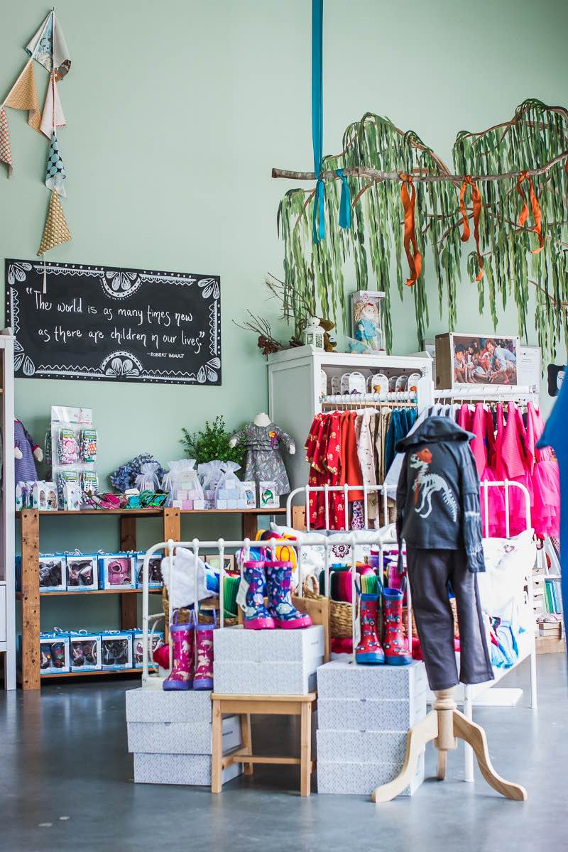 Natural, Organic Clothing and Accessories at Granola Babies at the OC Mart Mix, Costa Mesa, California