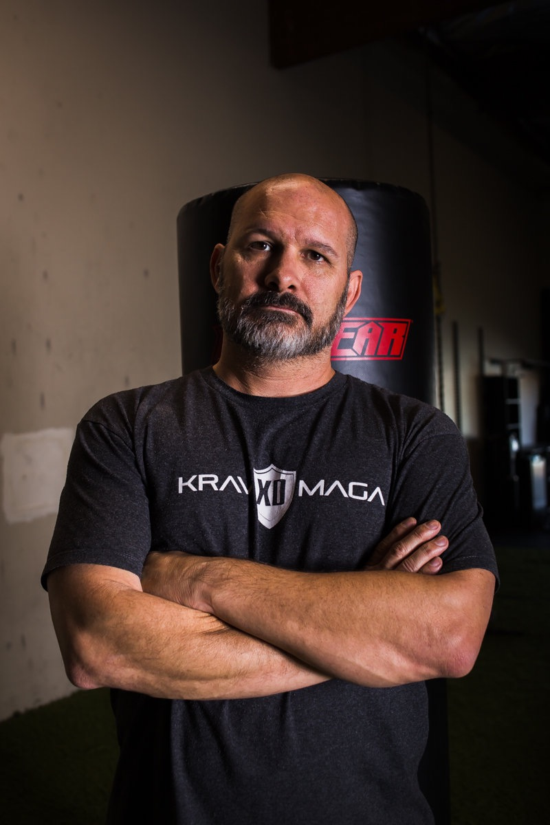 Krav Maga XD instructor, Justin Blankenship, at his Costa Mesa studio. // photo: @byoungforeverphotog