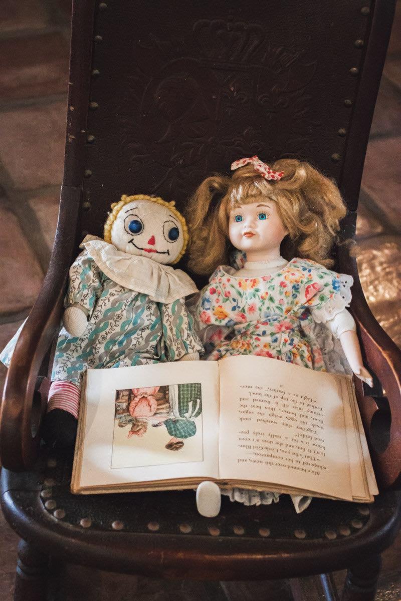Vintage Dolls on Display at the Diego Sepulveda Adobe in Costa Mesa, California