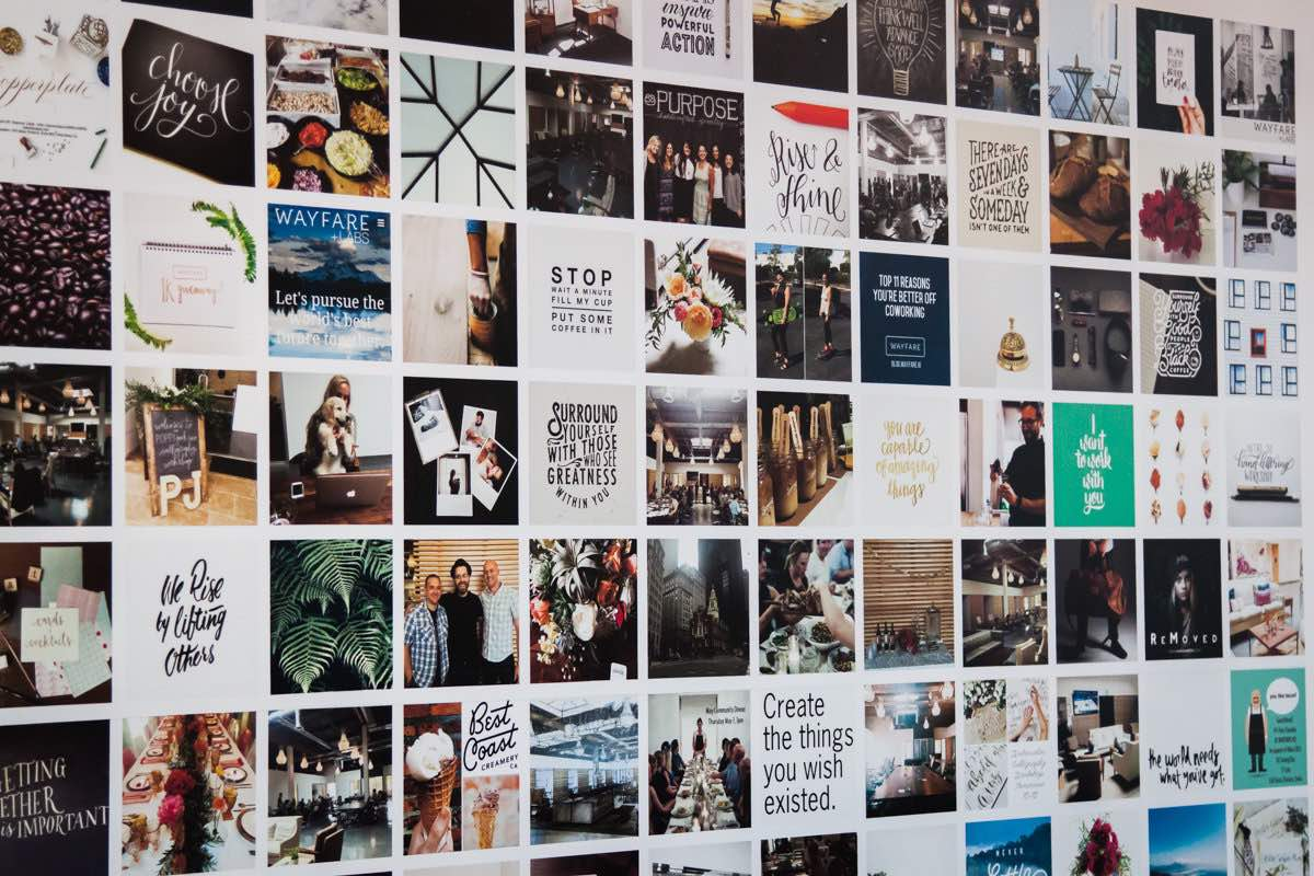 Vision Board: The Inspiration Wall at Wayfare HQ in Costa Mesa, CA
