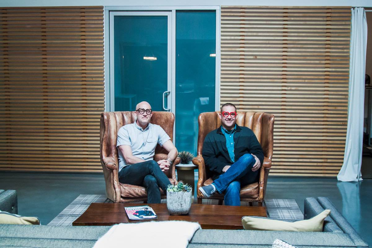Wayfare co-founders: Jeff Tanner and Brandon Arbini heart Costa Mesa
