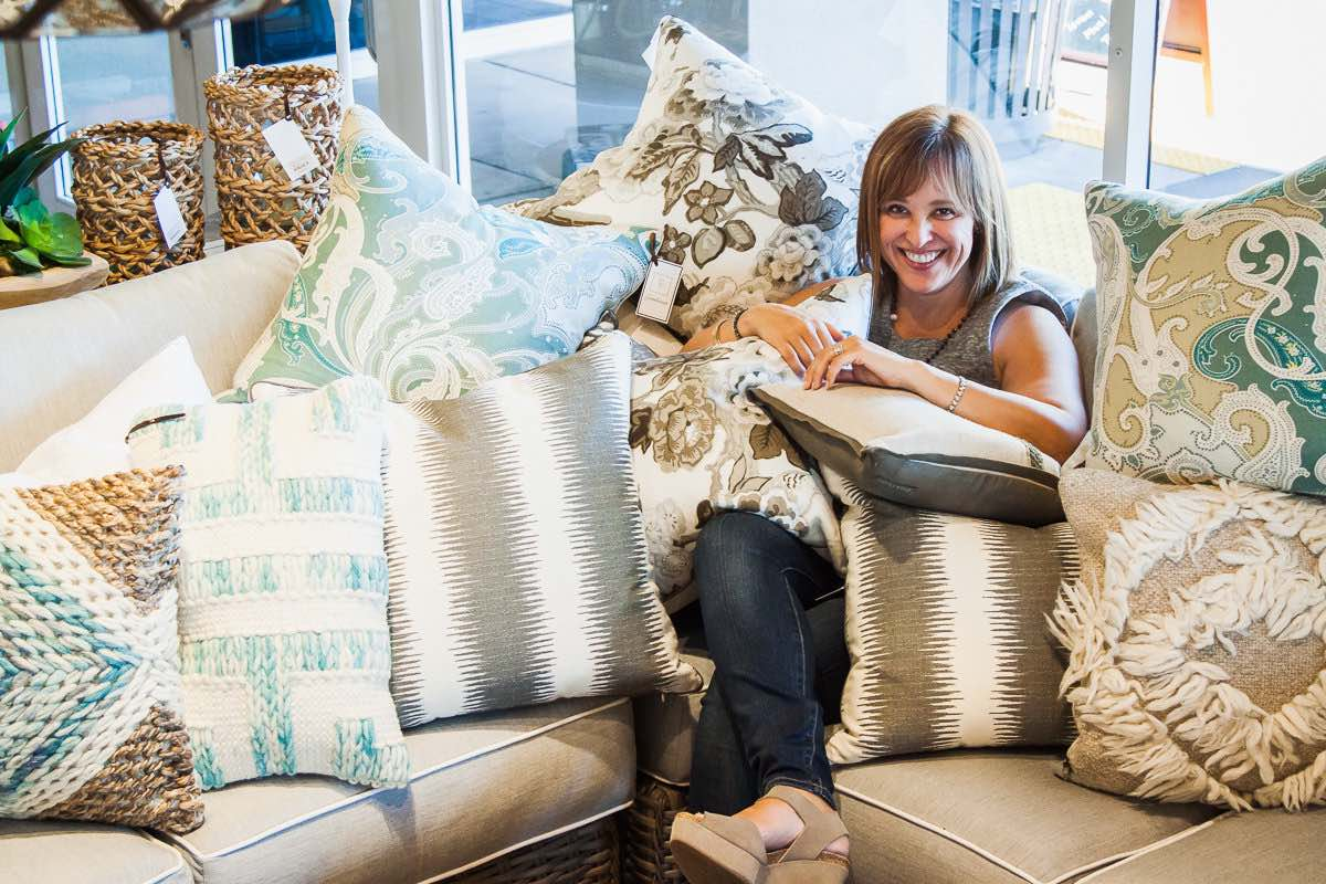 Gatehouse Owner, and Interior Designer, Kim Sankey has a Thing for Pillows