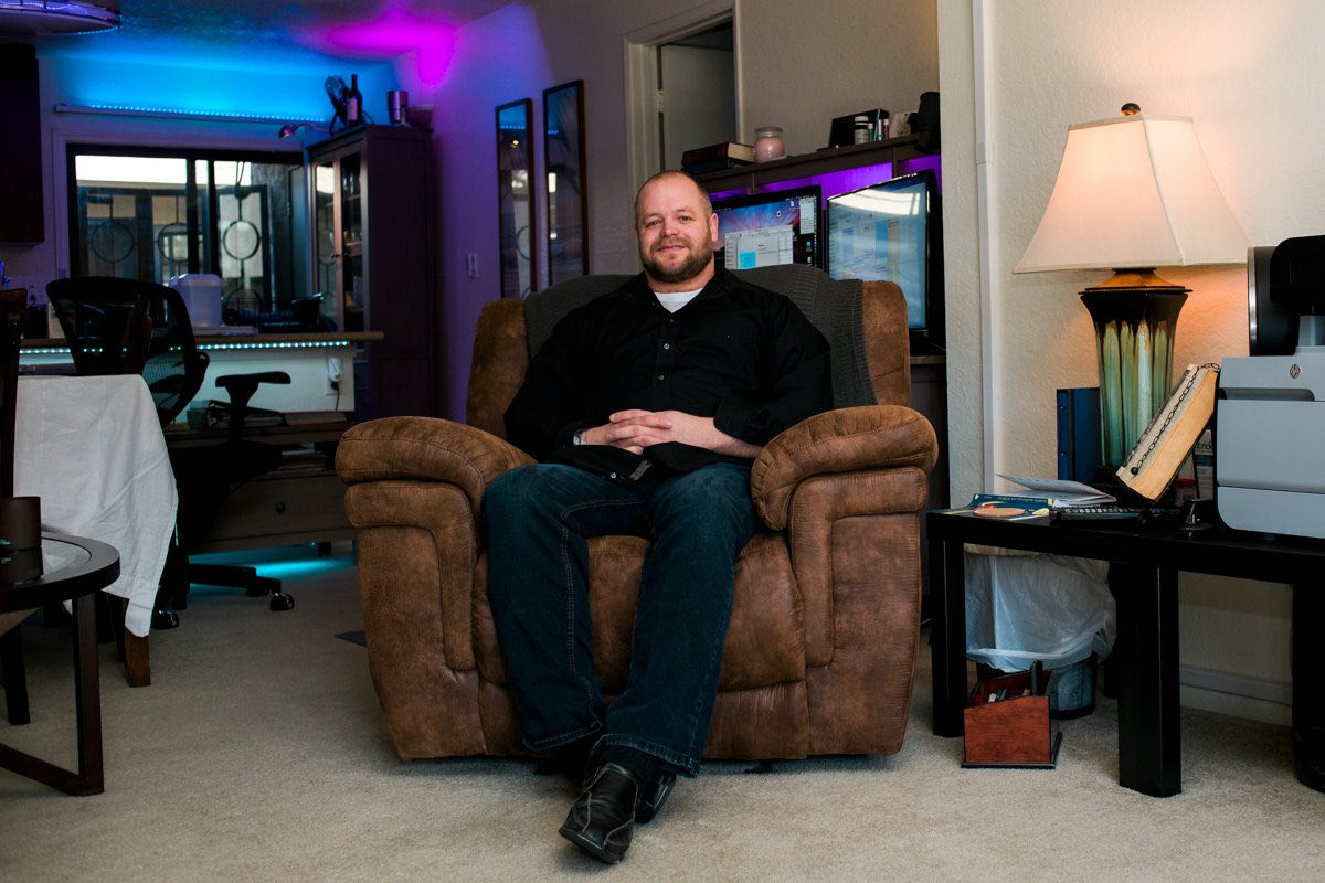 Combat Veteran, Aaron Steckman, Makes the Most of his Furnished Home, Including his Prized Recliner