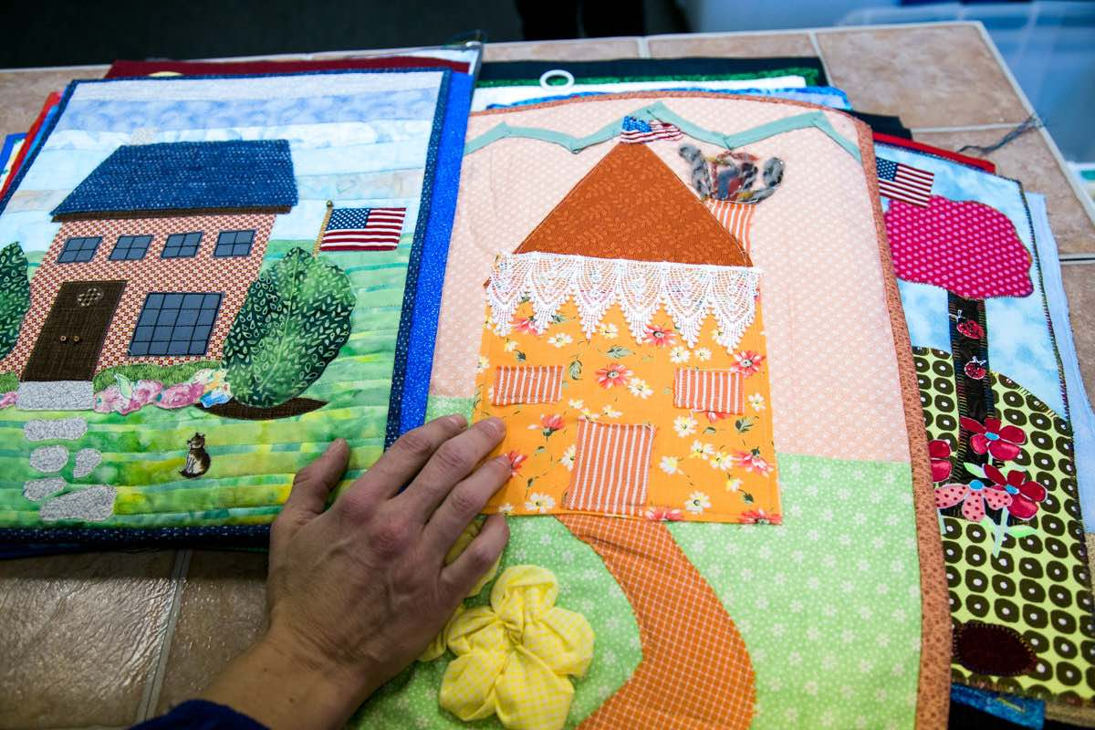 A Project With Purpose: Beth Philips Shows Off Handmade, Quilted Squares Donated To Furnishing Hope
