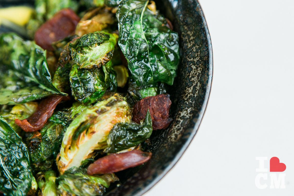 Brussel Sprouts, Executive Chef Chris Chun, Mesa Verde Country Club in Costa Mesa