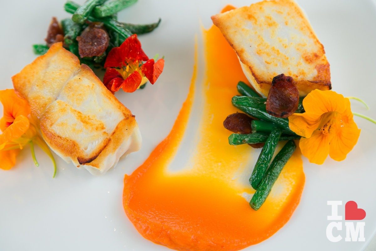 Seared Alaskan Halibut, Executive Chef Chris Chun, Mesa Verde Country Club in Costa Mesa