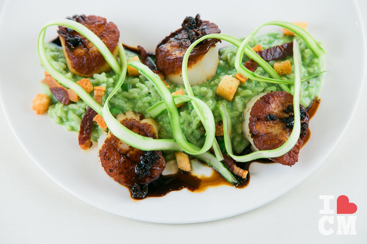 Seared Scallops, Executive Chef Chris Chun, Mesa Verde Country Club in Costa Mesa
