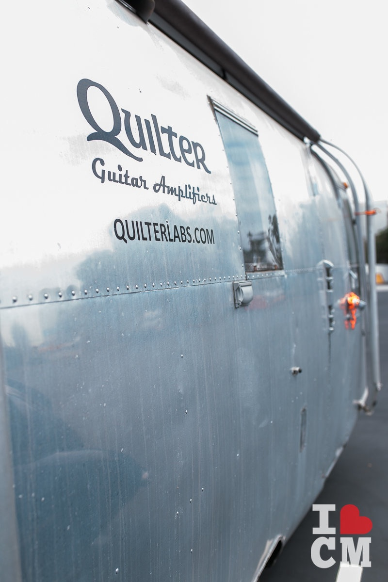 Quilter Labs Airstream-Style Trailer at their Headquarters in Costa Mesa, California