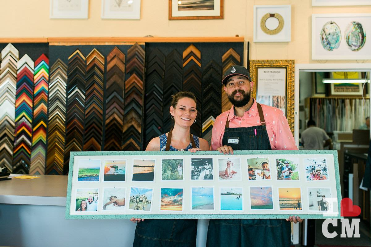 Family Affair: Husband-And-Wife Co-Owners, Kristen and Medi Bendanna at Best Framing in Costa Mesa