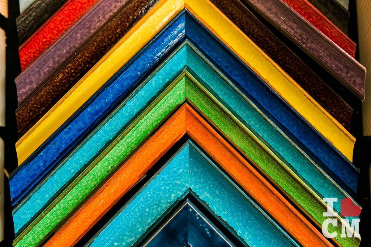 A Rainbow of Frame Color Choices at Best Framing in Costa Mesa, California