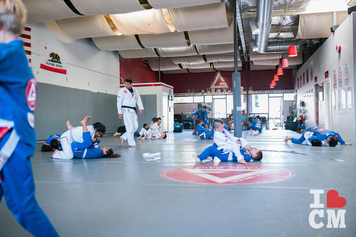 Kids Learn the Brazilian Art of Jiu Jitsu under Coach Louie Villarreal's Supervision, at Gracie Barra Costa Mesa in Orange County