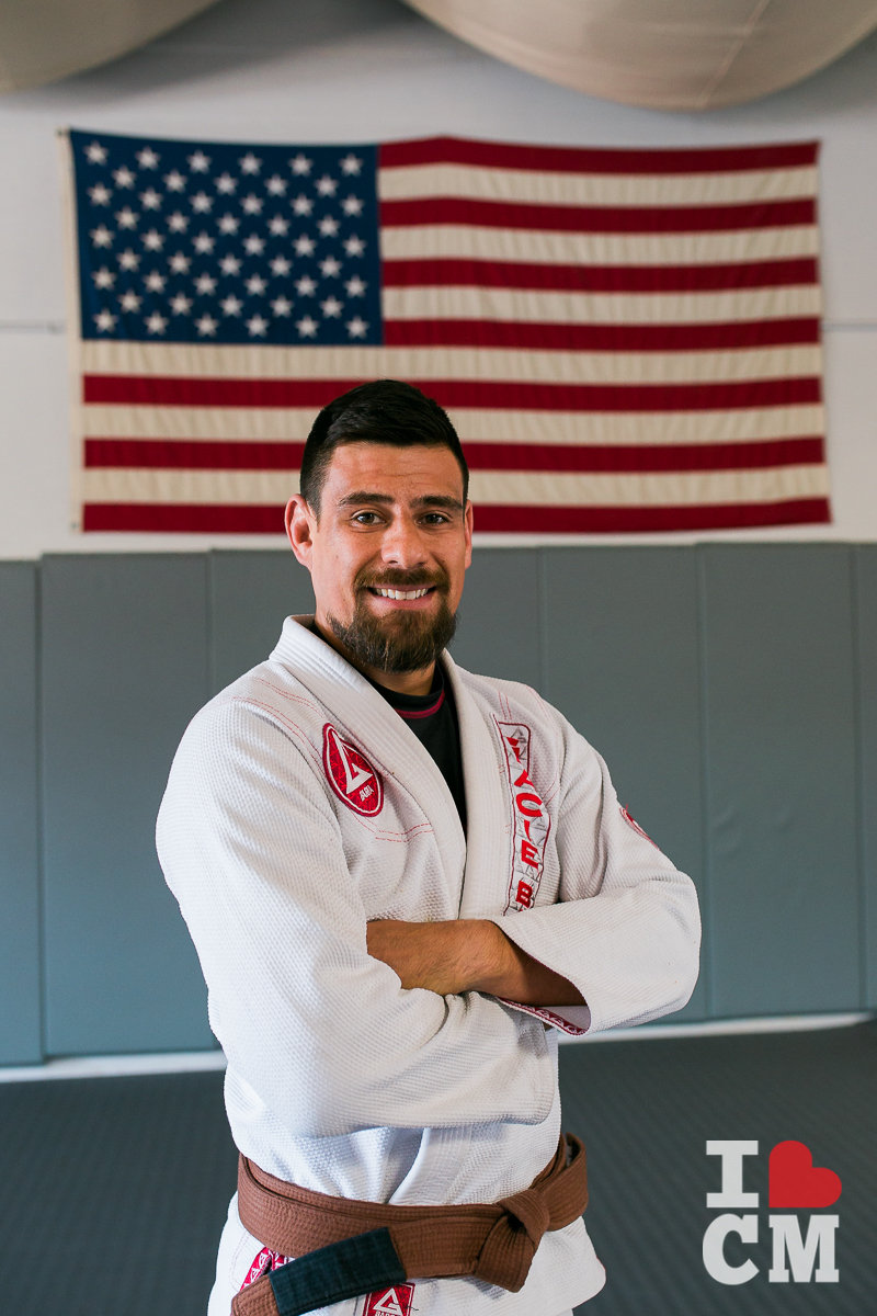 Coach Josh Ramirez at Gracie Barra in Costa Mesa, California