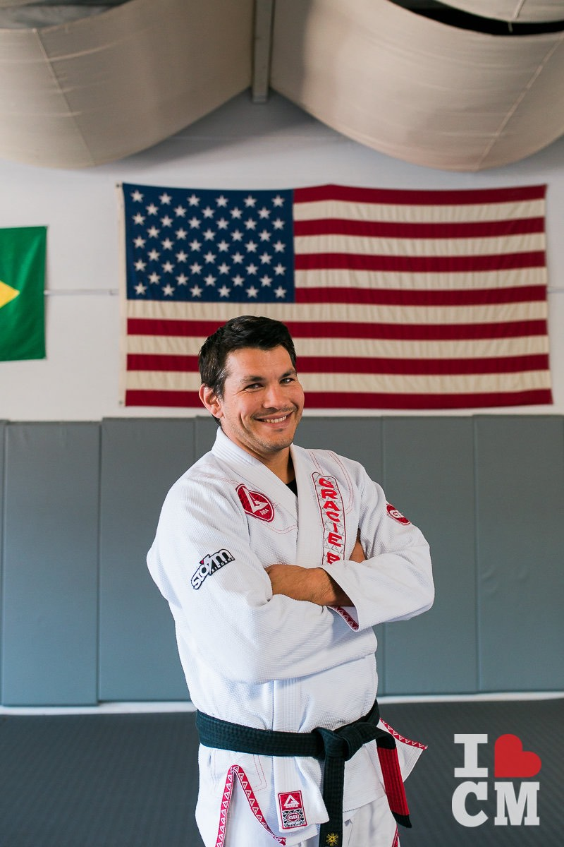 Coach Louie Villarreal at Gracie Barra in Costa Mesa, California