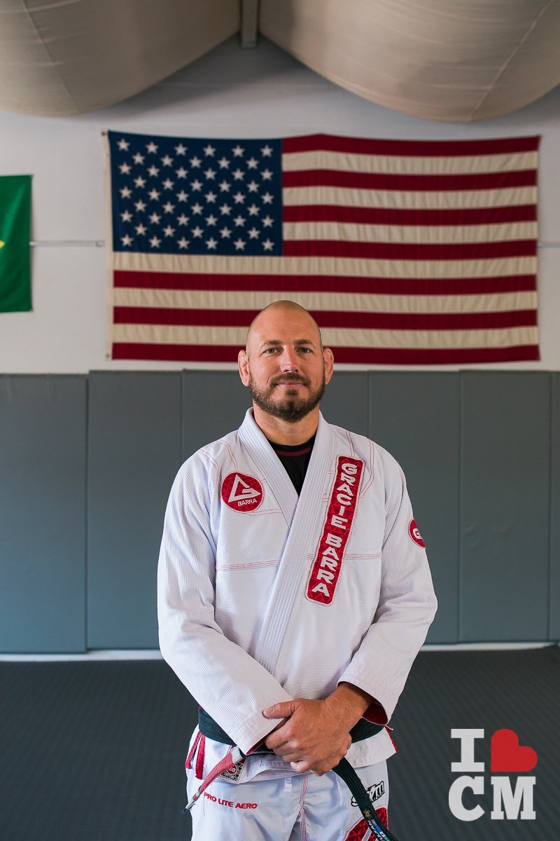 Studio Owner and Head Instructor Scott Carr at Gracie Barra in Costa Mesa, California