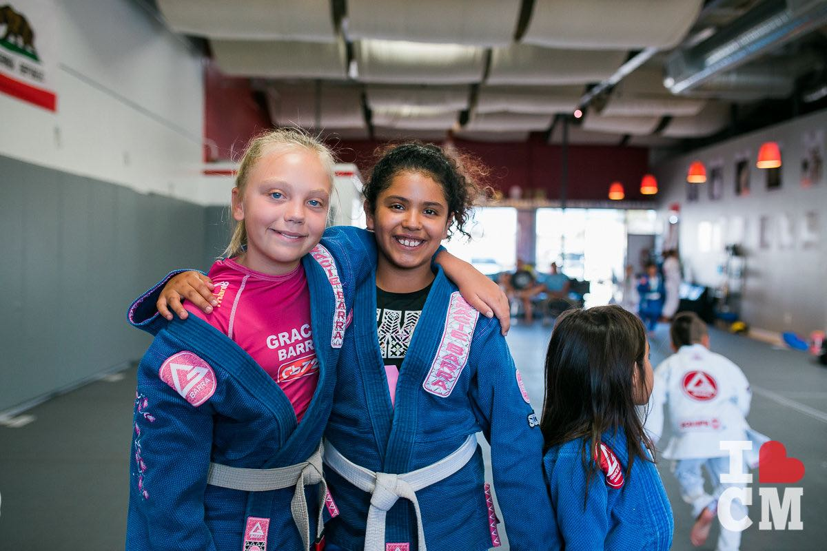 Local Kids Smile For The Camera At Gracie Barra Costa Mesa in Orange County, California