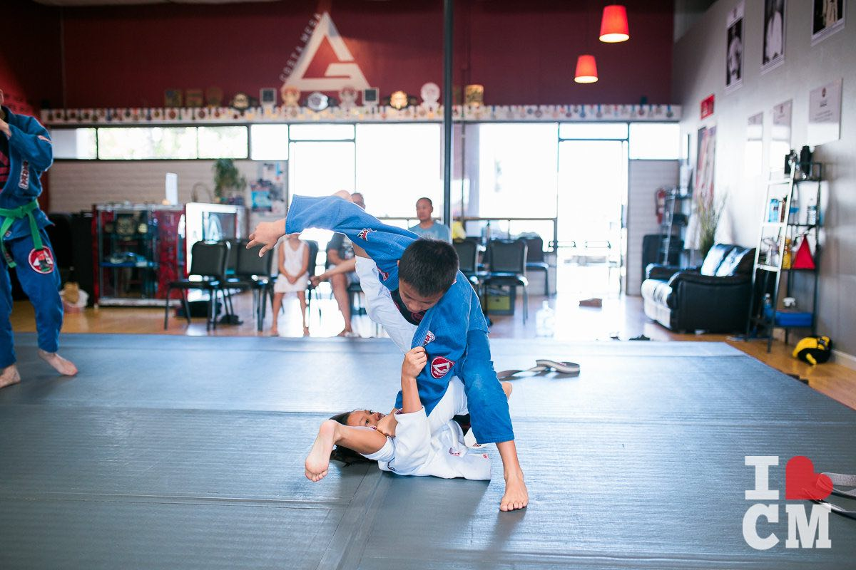 Kids Learn Jiu-Jitsu, Grappling and Self-Defense at Gracie Barra Costa Mesa in Orange County, California