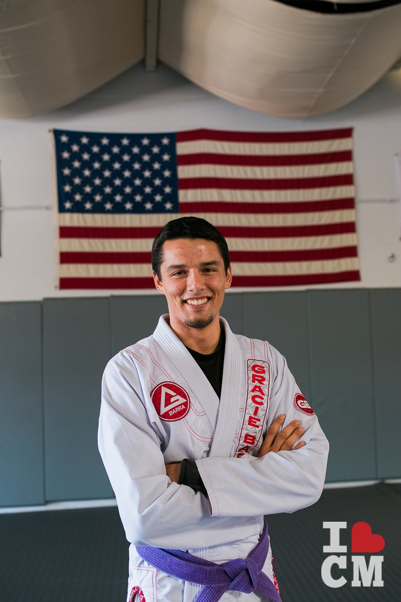 Coach Patrick Cahill at Gracie Barra in Costa Mesa, California