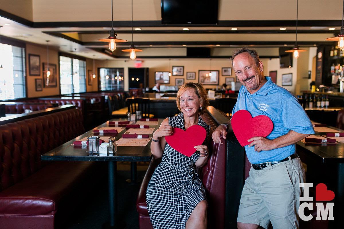 Siblings Laura Ursini Marroquin and John Ursini at Family-Owned-And-Operated Newport Rib Company, Costa Mesa, in Orange County, California