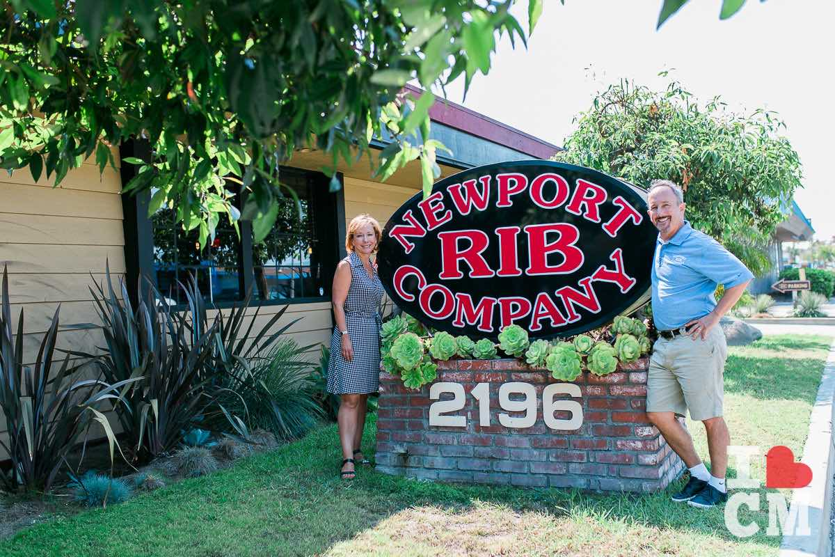 Laura Ursini Marroquin and John Ursini at Newport Rib Company 2196 Harbor Blvd in Costa Mesa, Orange County, California