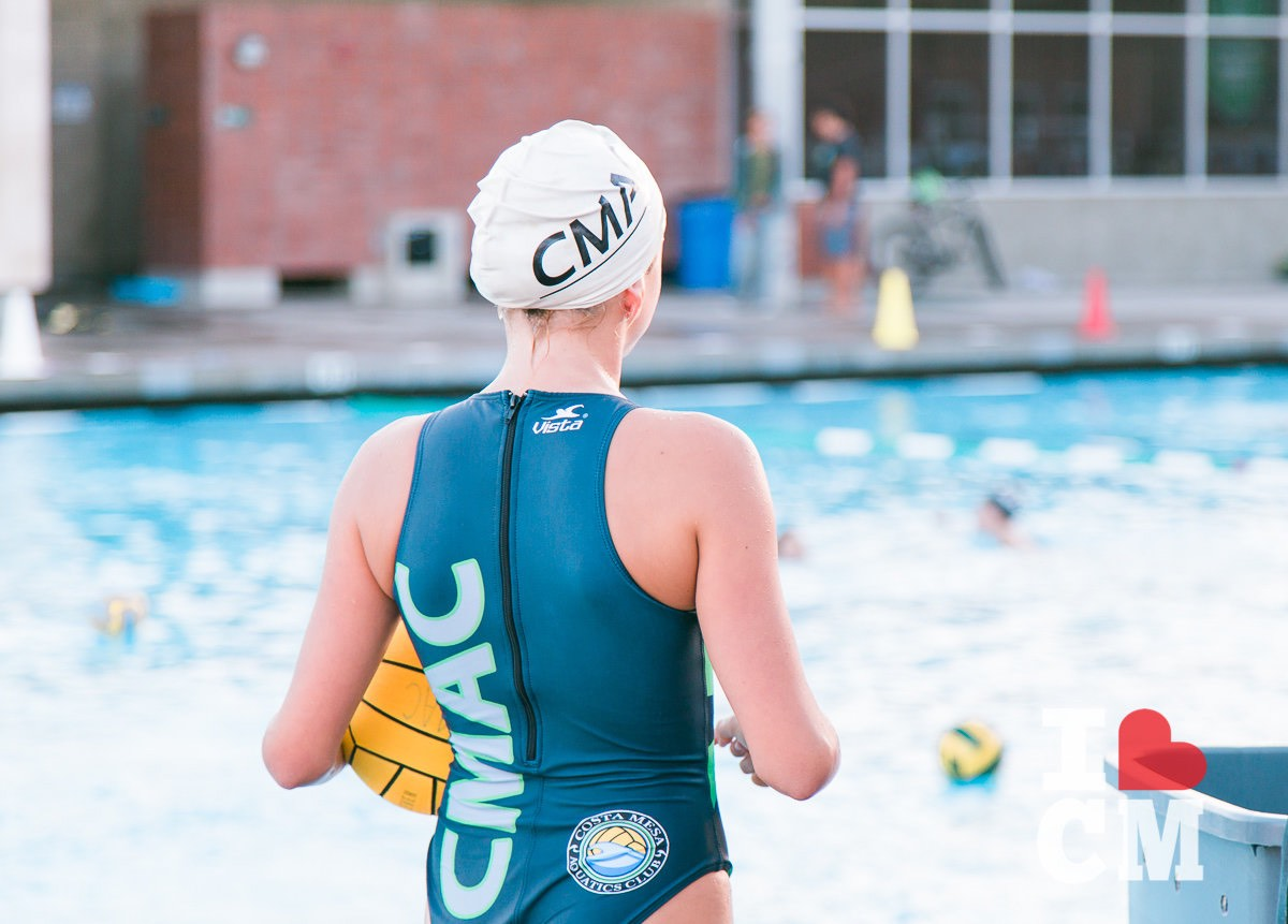 A CMAC Water Polo Player at a Costa Mesa Aquatics Club Practice in Orange County, California