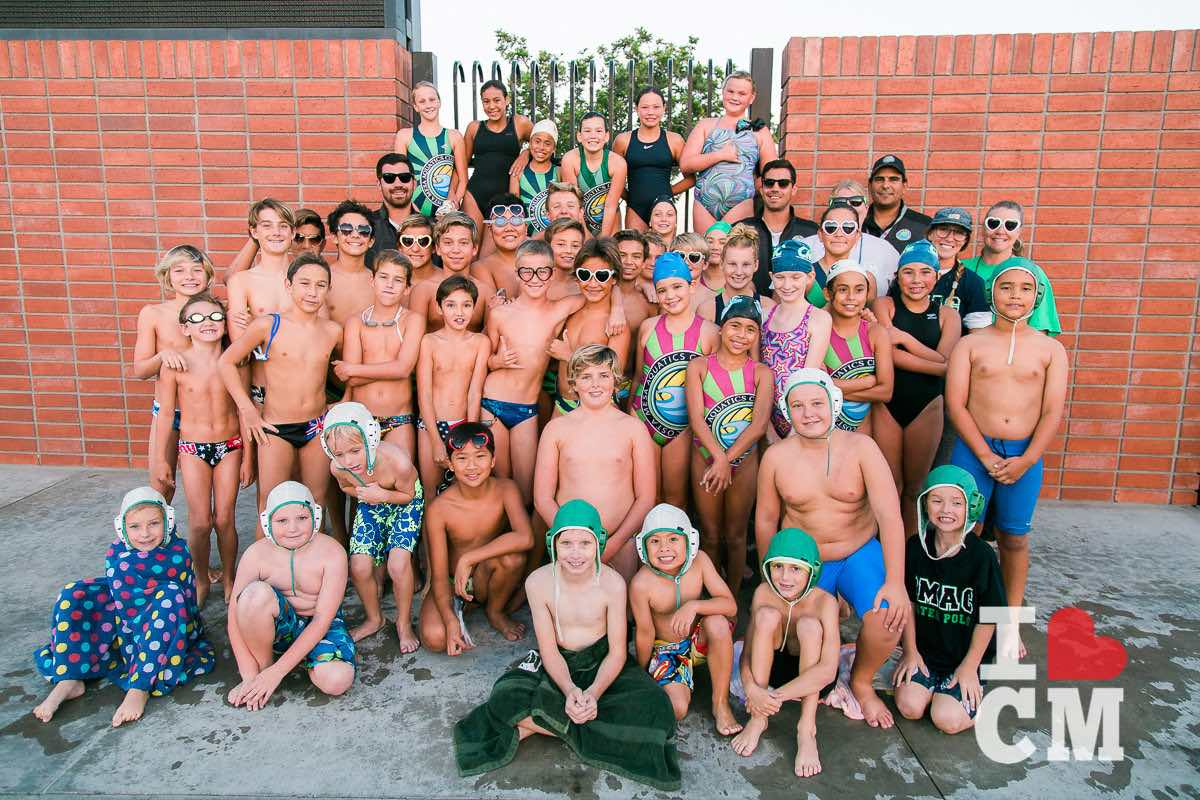 Costa Mesa Aquatics Club Swim Team and Water Polo Players in Orange County, California