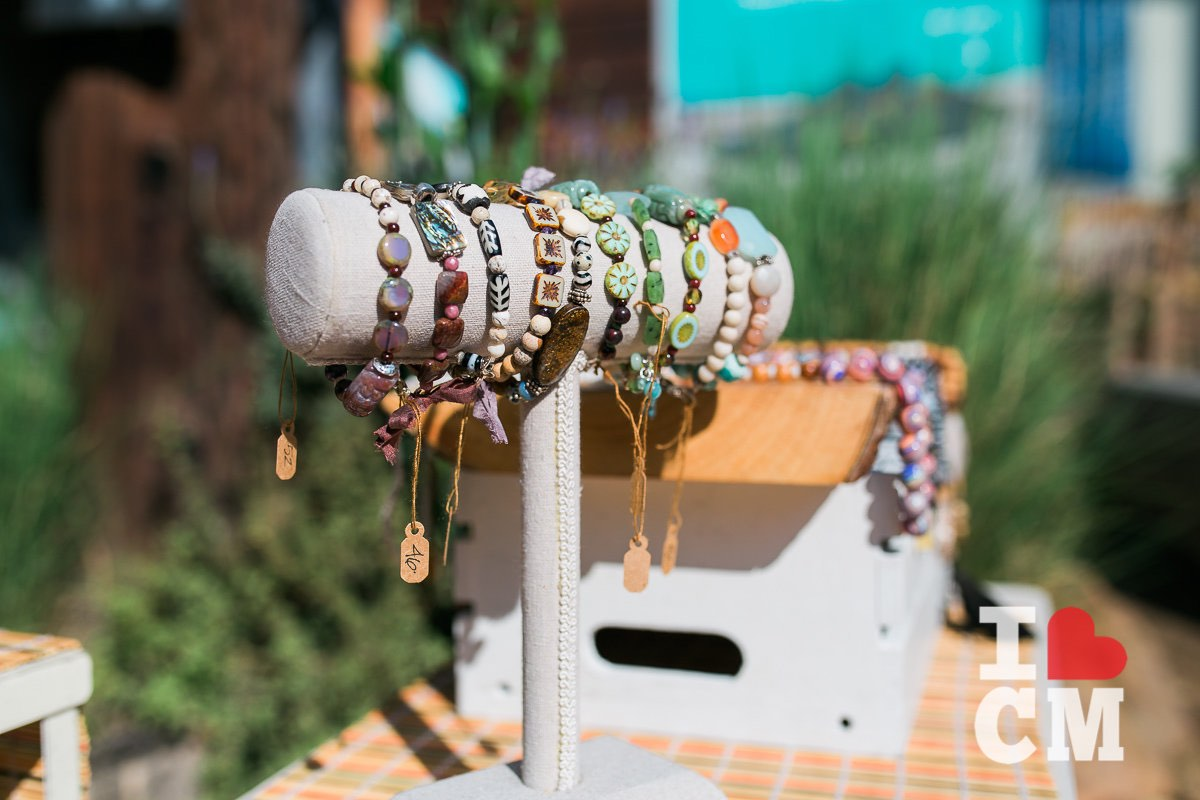 Handmade, Artisan Bracelets on Display at The Studio at The Camp in Costa Mesa, California