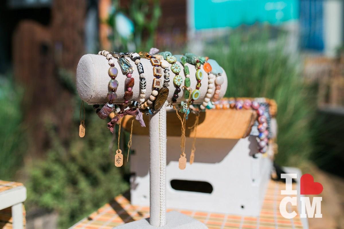 Handmade, Artisan Bracelets on Display at The Studio at The Camp in Costa Mesa, California