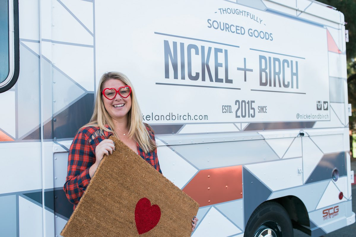 Nicole Jones, Owner of Nickel Designs and Nickel + Birch, 'Hearting' Costa Mesa, California