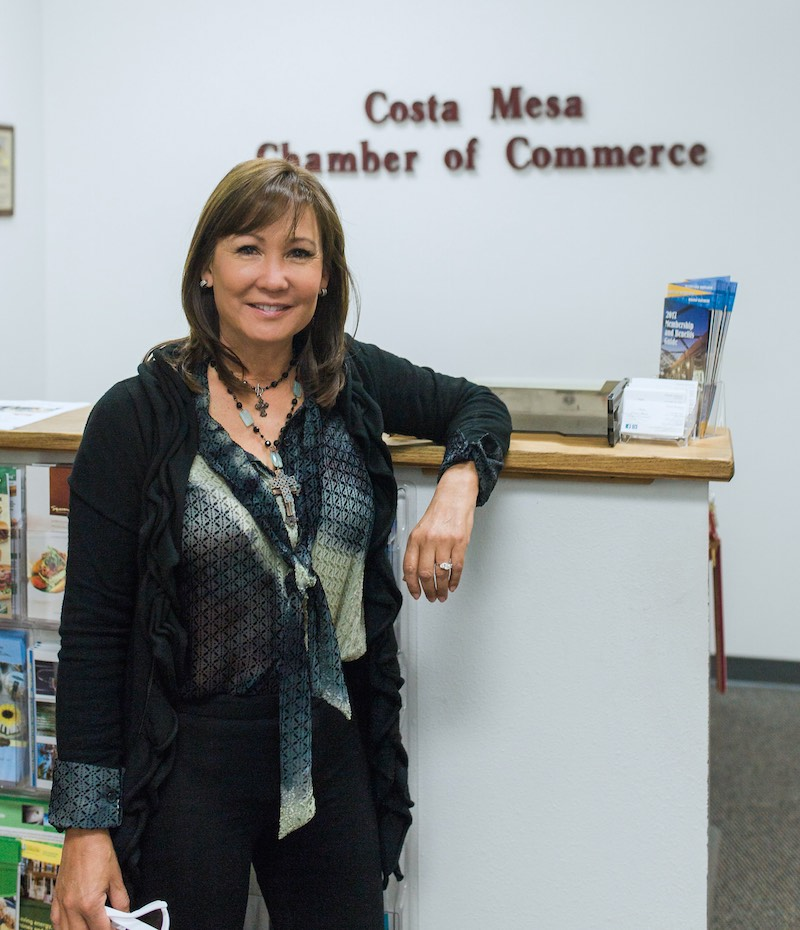 Costa Mesa Chamber Of Commerce CEO, Eileen Benjamin, in Orange County, California