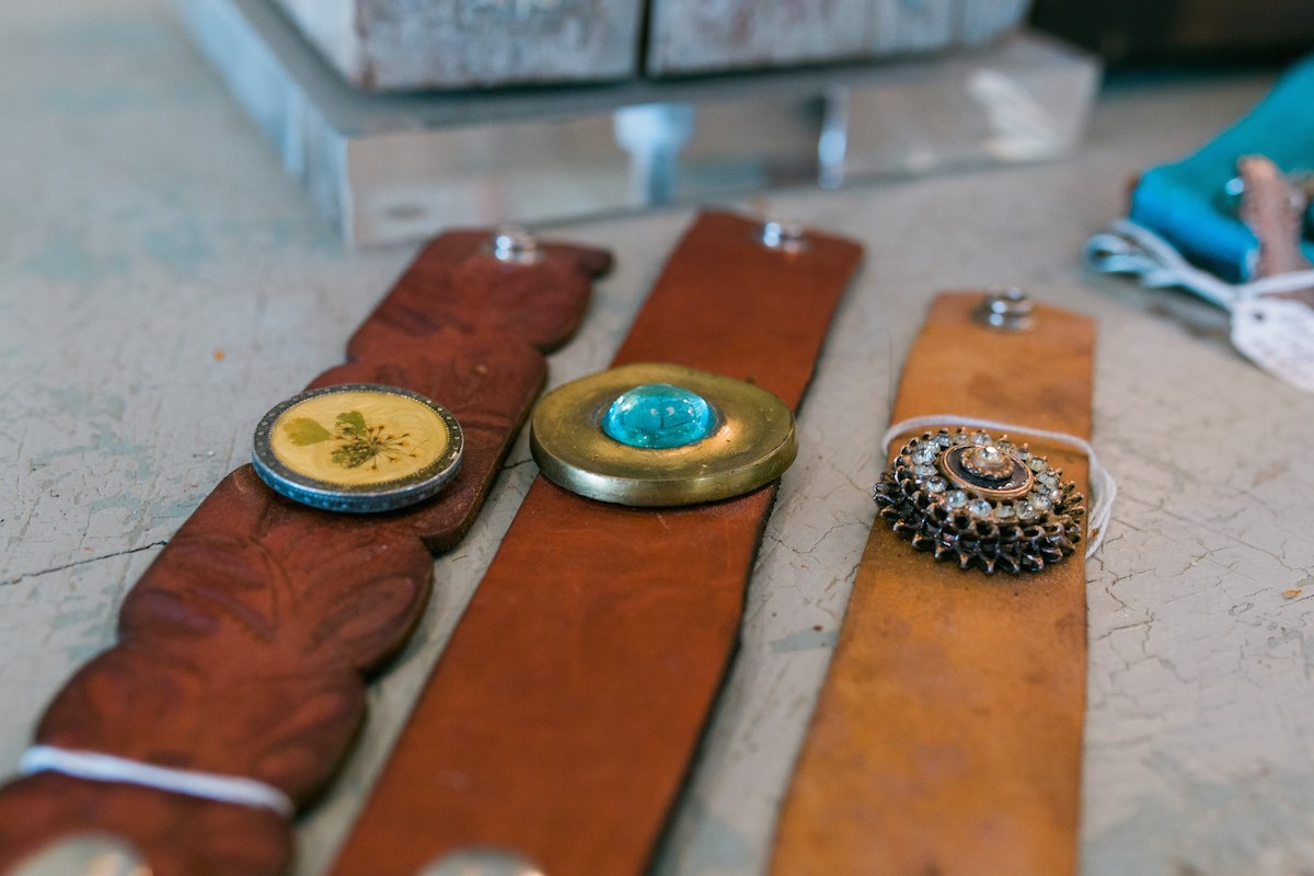 Off The Cuff: Leather Cuffs And Other Assorted Jewelry at The French Container in Costa Mesa, California