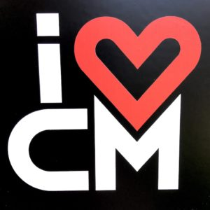 I Heart Costa Mesa IHCM Die Cut Decal Sticker Modern