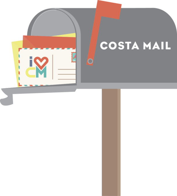 I Heart Costa Mesa, Mailbox, Email List, Subscribe