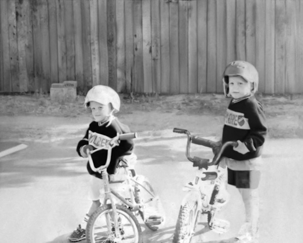 Jim Erickson (Right) With His Brother Dave, Biking Kids Growing Up In Costa Mesa, California