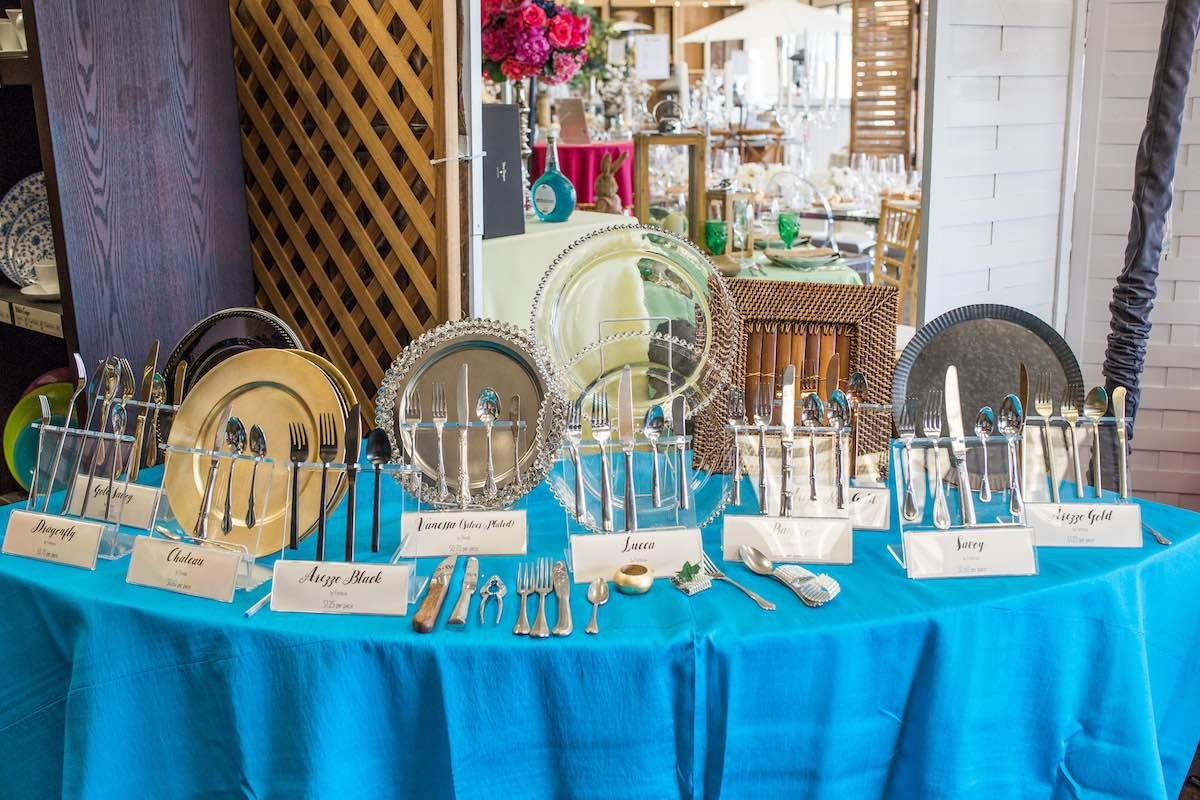 A Wide Selection of Silverware, Dishes, Barware, Drinkware and More at Baker Party Rentals (Costa Mesa, California)