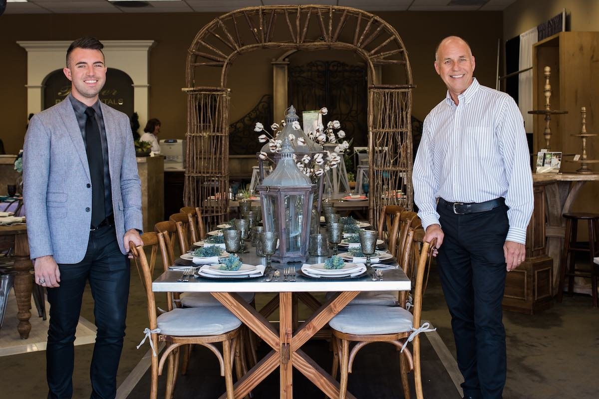 Design Duo: Father And Son Team, Tom Mantyla and Michael Mantyla, Baker Party Rentals