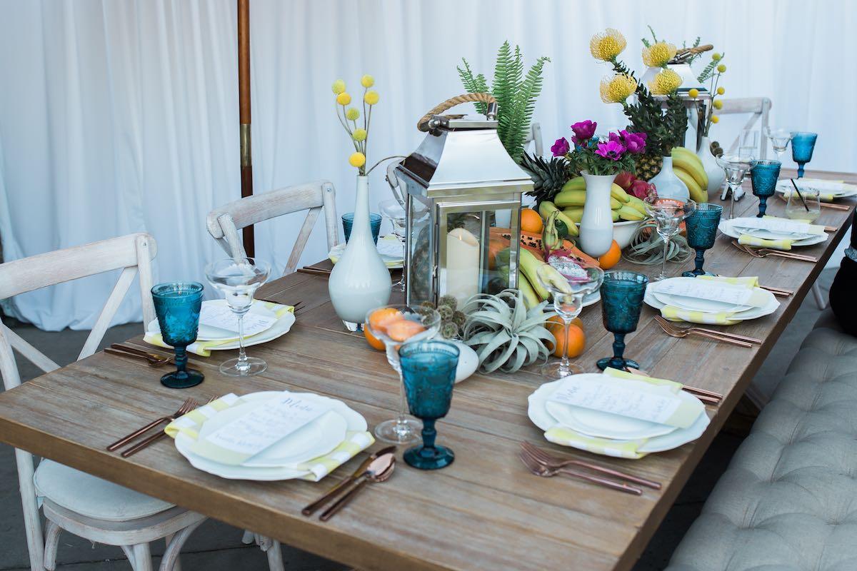 Baker Party Rentals: Beachy Island Tablescape (Costa Mesa, CA)