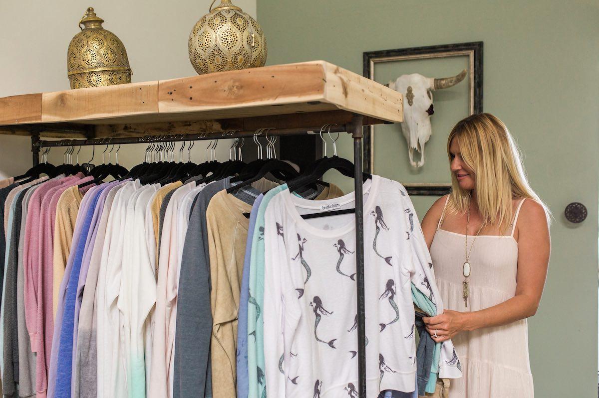 Owner Jodi Benavidez at Brokedown Clothing in Westside Costa Mesa, California