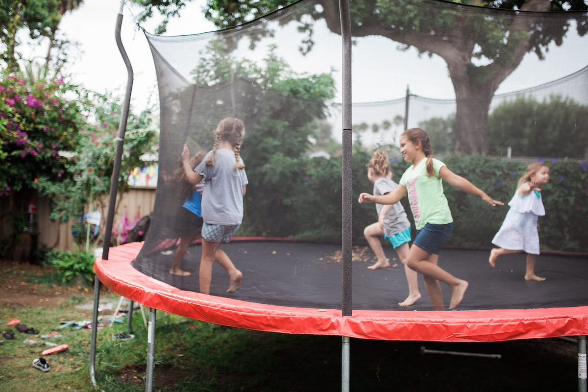 Bouncing The Wiggles Out on the Trampoline at Camp Lila, Mesa del Mar in Costa Mesa