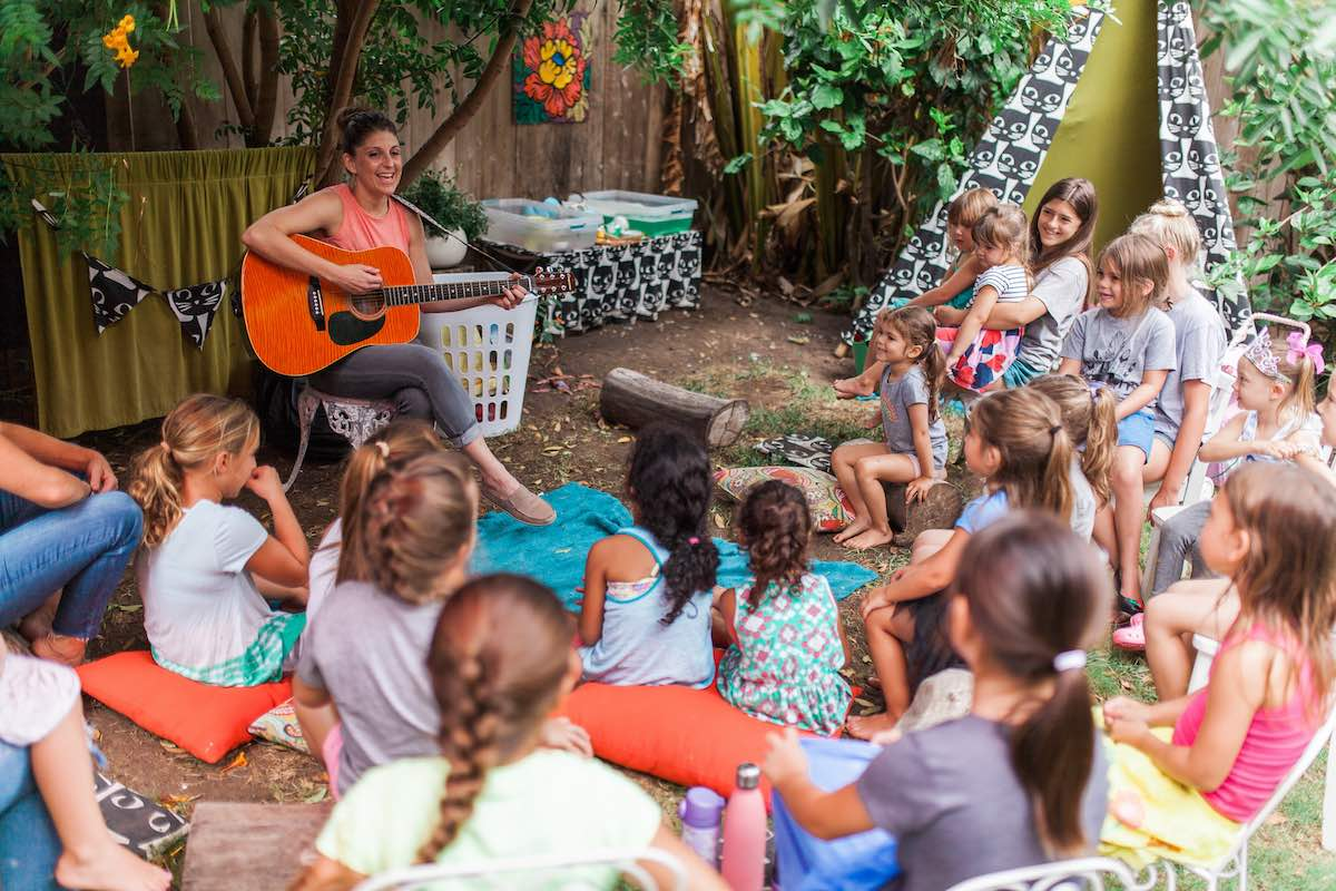 Music and Singing in the Garden at Camp Lila, Costa Mesa