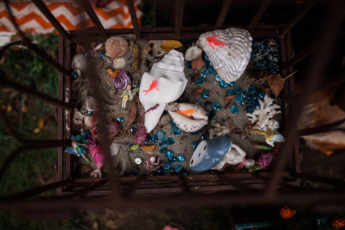 Sensory Box Full of Sand, Seashells and Mermaids at Camp Lila Mesa del Mar, Costa Mesa
