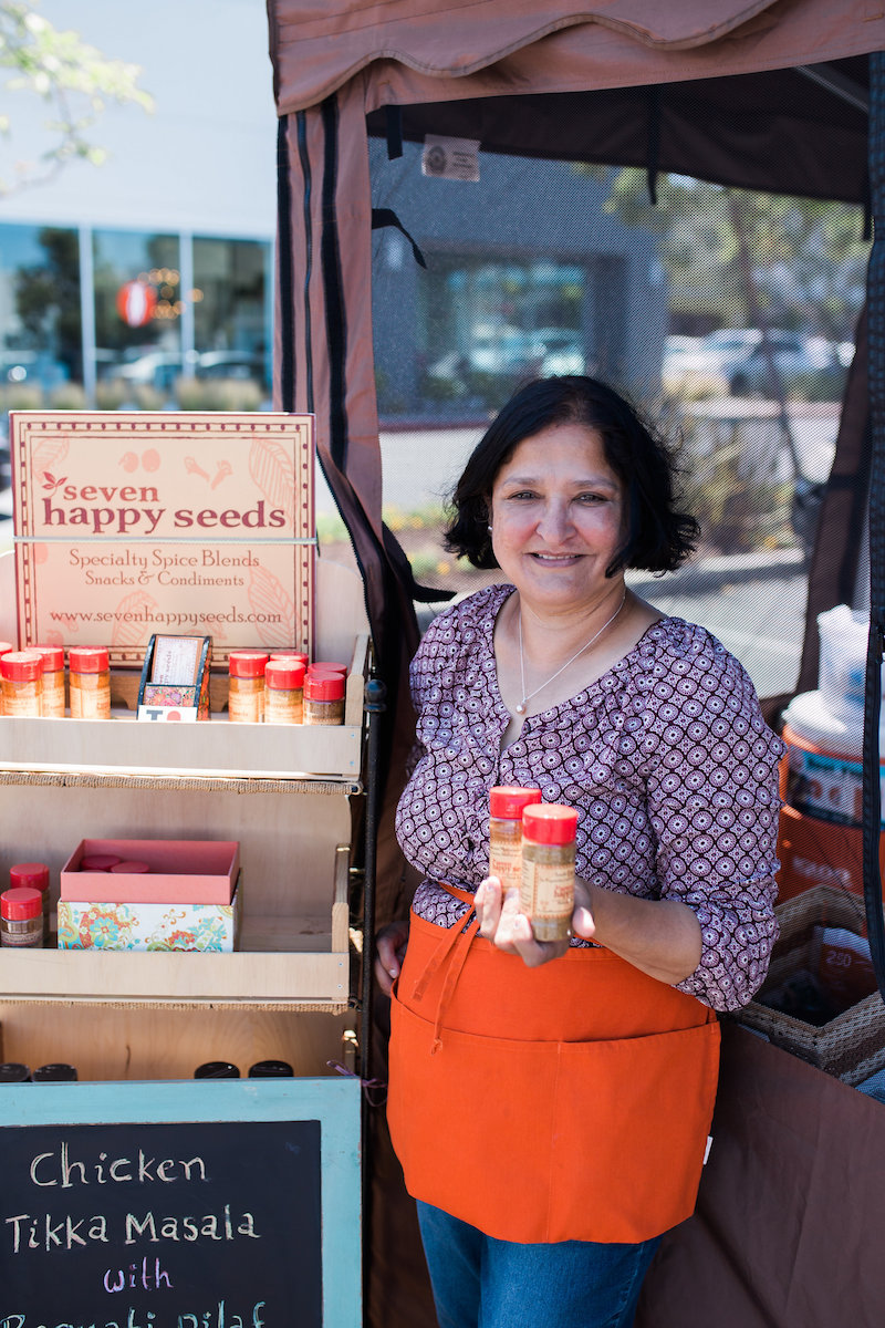 Get Spicy: Purveyor of Indian Spices, Seven Happy Seeds, at SOCO Farmers' Market in Costa Mesa, California