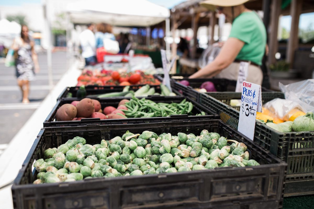 Farm Fresh Fruits and Vegetables at SOCO Farmers' Market, Saturdays in Costa Mesa, California