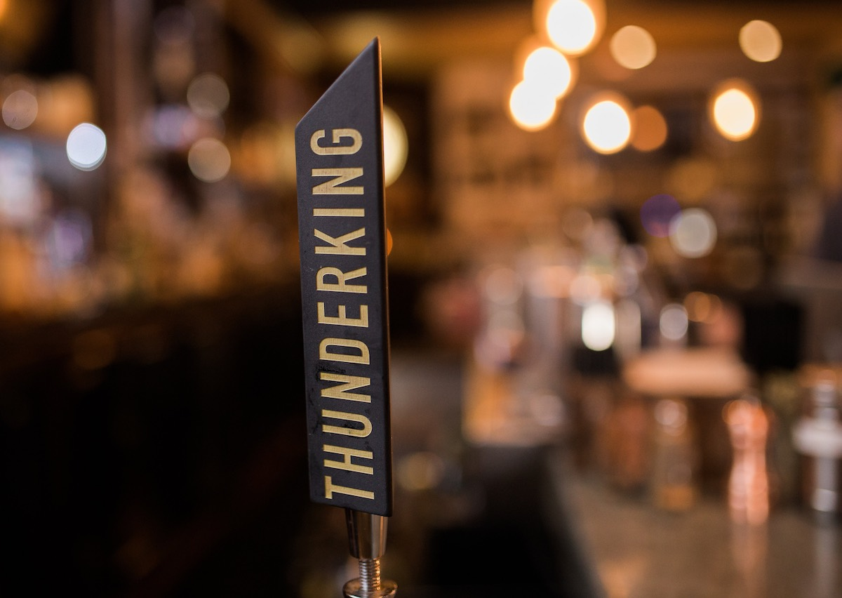 Handle It: Thunderking Brewing Tap Handle at Social Costa Mesa in Southern California