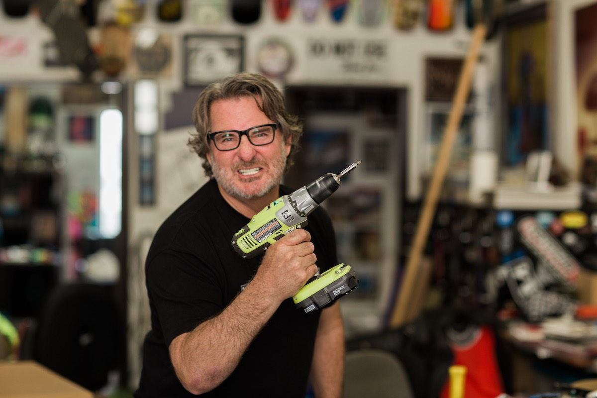 Power Play: Jim Gray Goofing Off With Power Tools, Westside Costa Mesa, California
